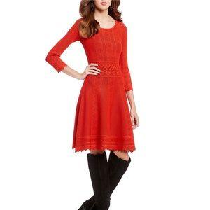 NWOT Gianni Binj Tight Knit Red Dress